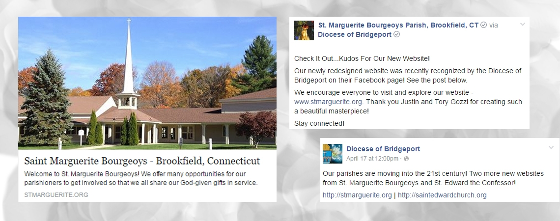 Diocese of Bridgeport Recognizes our New Website on Facebook